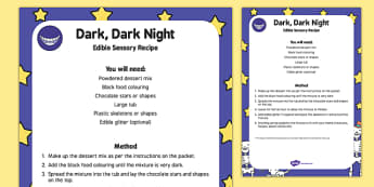 Dark, Dark Night Edible Sensory Recipe