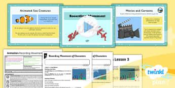 PlanIt - Computing Year 4 - Animation Lesson 3: Recording Movement Lesson Pack - planit, computing, unit