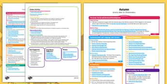 Autumn Activity Web For Childminders - autumn, activity, web, childminders, child minder