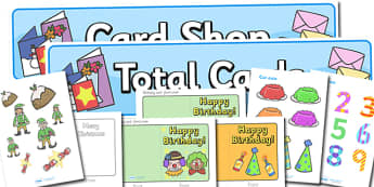 Card Shop Role Play Pack - cards, card shop, shop, making cards, birthday cards, christmas cards, thank you,