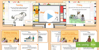 Week 20 - Problem Solving - One a day - Resource Pack - Word Problems, Addition, Subtraction, Challenge, Solving, RUDE, Irish