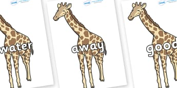 Next 200 Common Words on Giraffe - Next 200 Common Words on  - DfES Letters and Sounds, Letters and Sounds, Letters and sounds words, Common words, 200 common words