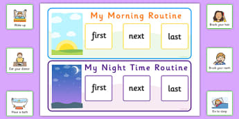 When Routine Activity - routines, timetables, visual timetable