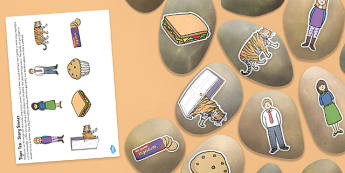 Tiger Tea Story Stones Image Cut Outs - tiger tea, story stones, image, cut outs