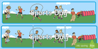 Sports Day Display Banner - sports, pe, sport, header, display