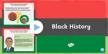 Black History Informative PowerPoint English/Italian  - black history month, powerpoint, pp, ppt, EAL