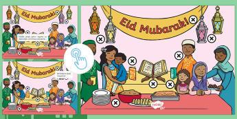 Eid al-Fitr Picture Hotspots - Twinkl Go, twinkl go, TwinklGo, twinklgo, Eid al-Fitr (KS1) 25th June 2017, islam, muslim, festival, ramadan, eid, eid ul fitr, picture hotspo