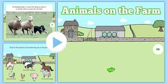 Animals on the Farm EYFS PowerPoint - eggs, sheep, horse, hen, chicken, donkey, cow, pig, farmyard