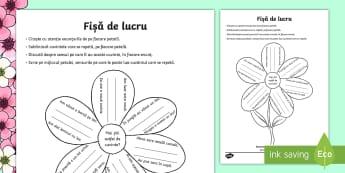 Omonime pe floare Fișă de lucru - Spring, primavara, floare, flori, petale, omonime, exemple, romanian, enunțuri, joc, limba romana,