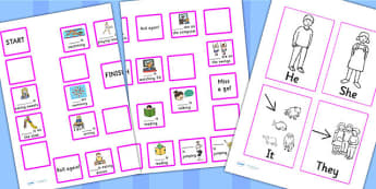 He, She, They And It Board Game - SEN, SEN games, visual aids