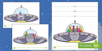 Alien Estimating 1-10 Activity Sheets - EYFS, Early Years, Aliens Love Underpants, Claire Freedman, space, aliens, maths, counting, estimate