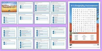 Environments Activity Pack - Year 4, ACHASSK088, information, Australian Curriculum, Geography, Vocabulary, Display, Language, Fo