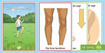 'Herr Schmidt Sagt' Body Parts Game German - Game, Simon Says, German, MFL Games, Languages, Games, Vocabulary, Deutsch