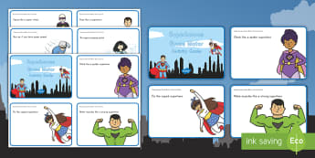Superheroes Gross Motor Activity Cards - comics, comic books, challenge, movement, actions