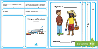 Going on an Aeroplane Social Situation - holiday, plane, airplane, social story, social stories, airport