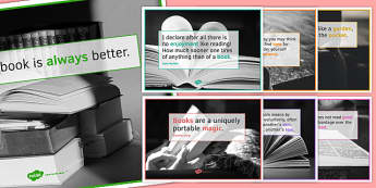 Reading Quote Posters for KS4 - reading quote, posters, display, ks4, reading, quote