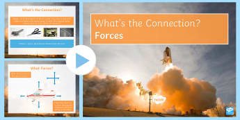 Forces What's the Connection? PowerPoint - KS4 What's the Connection?, Forces, Friction, Gravity, Free-body Diagram, Pressure, Contact, Non-Co