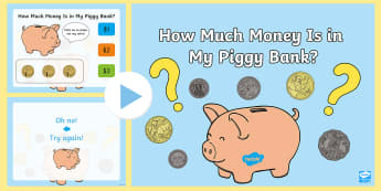 How Much Money Is in My Piggy Bank? PowerPoint Quiz Australia - australia, money, count