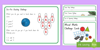Mixed Maths Challenge Cards - New Zealand Maths, problem solving