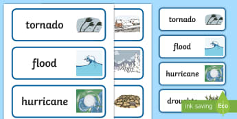 Extreme Weather Conditions Word Cards - Extreme Weather Conditions Word Cards - extreme weather conditions, extreme weather conditions power