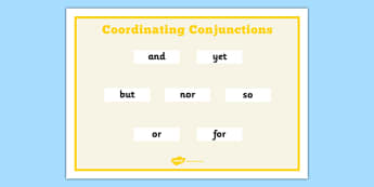 Coordinating Conjunctions Word Mat - coordinating, Connectives