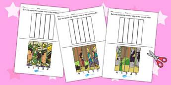 Rapunzel Number Sequencing Puzzle - rapunzel, number, puzzle
