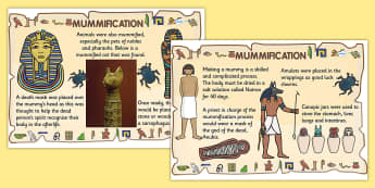 Mummification Posters - mummification, ancient egypt, mummification display posters, mummification facts, ks2 history posters, history of egypt