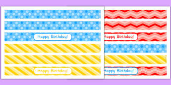 3rd Birthday Party Cake Ribbon - 3rd birthday party, 3rd birthday, birthday party, cake ribbon