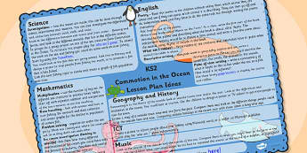 Lesson Plan Ideas KS2 to Support Teaching on Commotion In The Ocean - commotion in the ocean, commotion in the ocean lesson plan, commotion in the ocean lesson ideas, ks2 planner