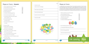 Easter Foundation Reading Differentiated Reading Comprehension Activity French - French, Easter, reading, comprehension, vocabulary, Pâques, story.,French