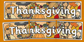 Thanksgiving Display Banner - displays, banners, visual, posters