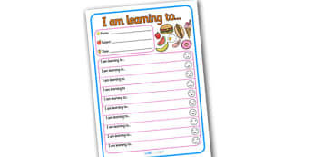 Themed Target and Achievement Sheets Food Themed -  Target and Achievement, Target and Achievement Sheet, Target Sheet, Food Themed