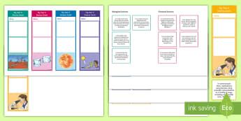 Year 5 Australian Curriculum Science Goals Bookmarks - Science assessment, targets, Australian science, WALT, goal setting,Australia