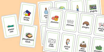 Three Syllable PL Sound Playing Cards - sen, sound, special educational needs, pl