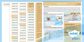 PlanIt Y3 Measurement Overview - Y3, KS2, Maths, Measurement, planning, overview.
