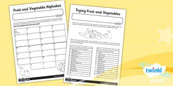 D&T: Sensational Salads KS1 Unit Home Learning Tasks