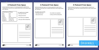 Back to Earth with a Bump: A Postcard from Space Differentiated Activity Sheets - Back to Earth with a Bump, space, planets, night and day, dark, sun, Mars, moon, stories, picture bo