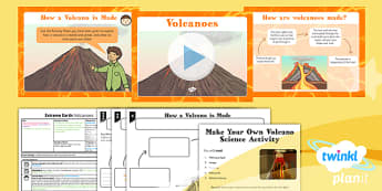 Geography: Extreme Earth: Volcanoes Year 3 Lesson Pack 2
