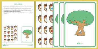 Acorn and Oak Tree Phase 2 and 3 Phonics Game - EYFS, Little Acorns, Twinkl Originals, Twinkl Fiction, Autumn, Seasons, Plants and Growth, Growing,