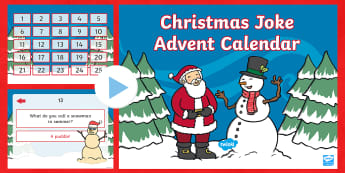 Christmas Joke Advent Calendar PowerPoint - Calendar, advent calendar, Christmas, Christmas jokes