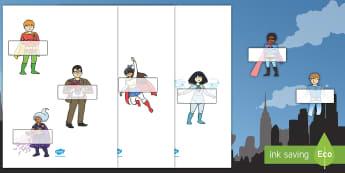 Auto registro editable: Los superhéroes - Los superhéroes, proyecto, transcurricular, poderes, pasar lista, nombres,Spanish - Los superhéroes, proyecto, transcurricular, poderes, pasar lista, nombres, Spanish