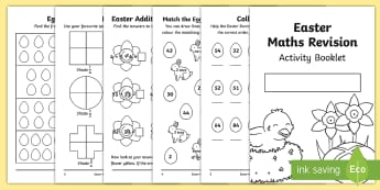 SATs Survival KS1 Easter Revision Maths Activity Booklet - SATs, Maths, KS1, Year 2, revision, easter