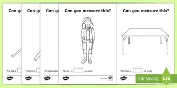 Measuring in cm Activity Sheets - Canada, KS1, Maths, Resource, Movement, math, measure, measuring, measurement, ruler, centimeters, c