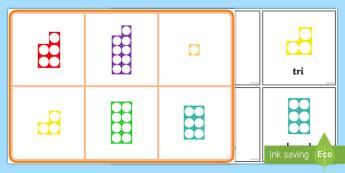 Bingo Siapiau Rhif 1-10 - numicon, cymraeg, rhif, rhifau, numbers, welsh,