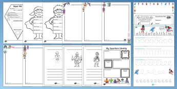 KS1 Superhero Writing  Resource Pack
