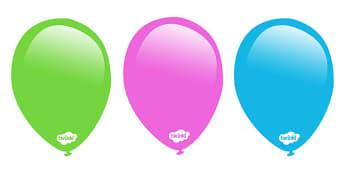 Editable Balloon Posters - Balloon, balloons, editable display, editable display posters, labels, child name label, printable labels