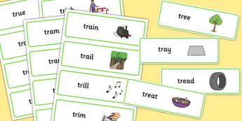 TR Word Cards - tr, word cards, word, cards, sen, sound, tr sound