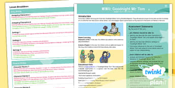 PlanIt Y5 World War II: Topic Overview to Support Teaching on Goodnight Mister Tom