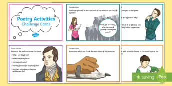 CfE Second Level Poetry Activity Challenge Cards - CfE Literacy, reading comprehension strategies, poetry, activities with poetry, poetry activities, p