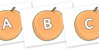 A-Z Alphabet on Giant Peach to Support Teaching on James and the Giant Peach - A-Z, A4, display, Alphabet frieze, Display letters, Letter posters, A-Z letters, Alphabet flashcards